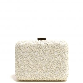 Bolso Clutch Beige Bordado