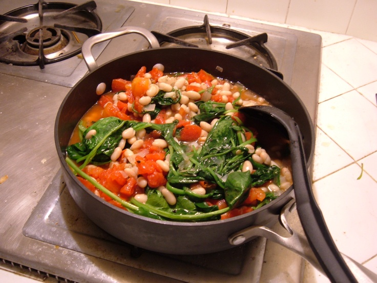 More like this: white beans , spinach and beans .