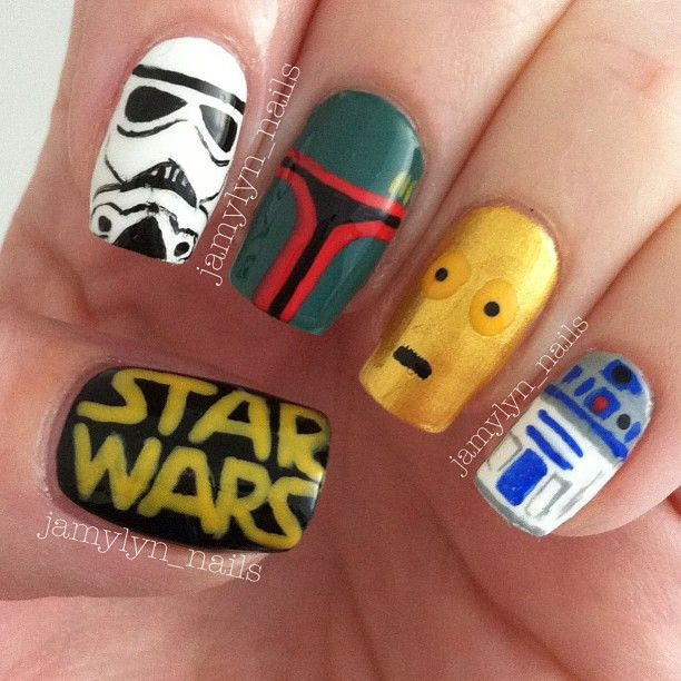The boba fet nail is awesome - Best 25+ Star Wars Nails Ideas Only On Pinterest Nail Art Diy