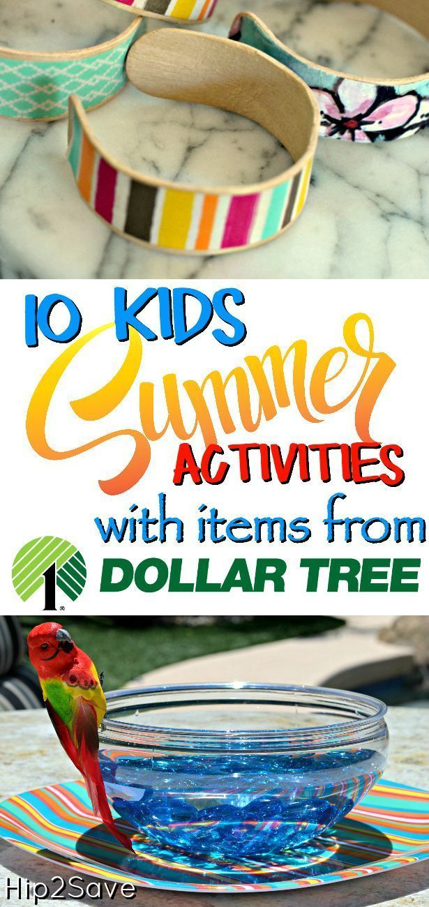 Looking for activities to keep the kids busy this summer? Check out these fun and easy ideas you can create from Dollar Tree items!