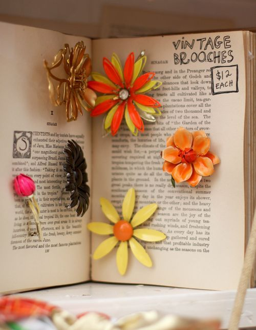 use old books for display