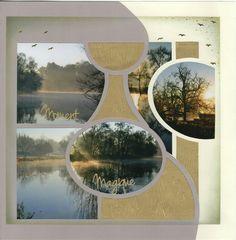 Bonjour ! Quand les photos parlent d'elles mêmes, pas besoin de plus !!! Nouveau gabarit Aqua et pages pré-découpées papier métalisé...