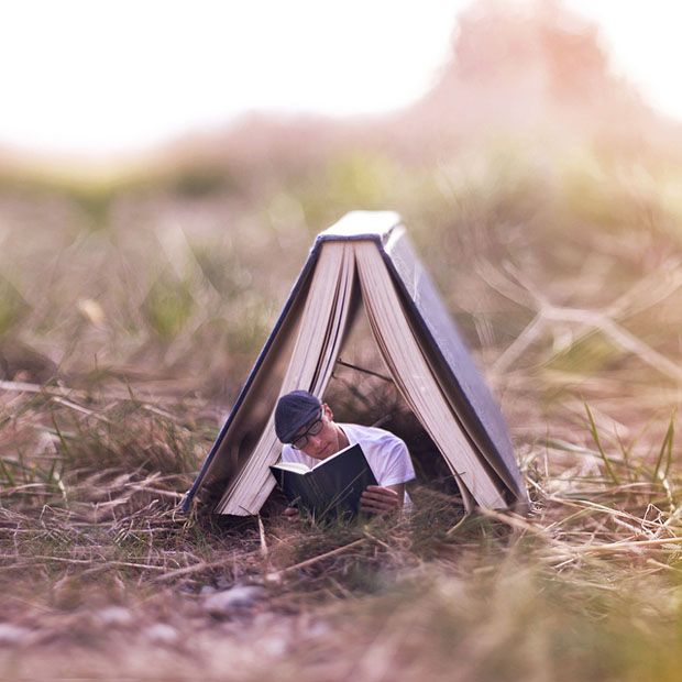 Surreal Photoshopped Self Portraits of Life in a Miniature World