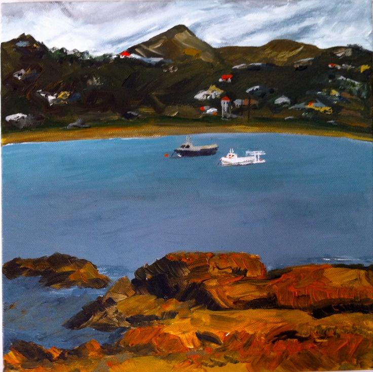 """Island Bay"" acrylic on canvas."