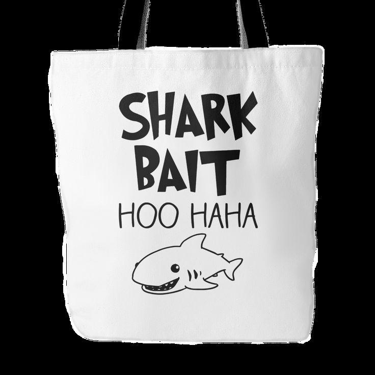 """Shark Bait Tote Bag, 18"""" x 18"""""""