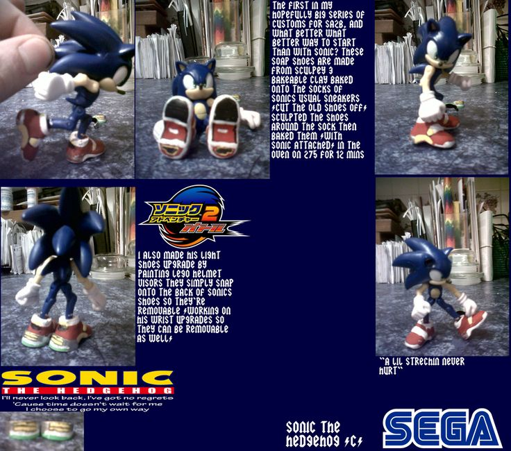 Always wanted to do this just never knew how to without the clay breaking apart. These figures had very delicate joints that split and broke and you couldn't play too rough on them. They were mainly done for display. One day I want to get a Sonic figure and deck him out Ryan Drummond style. Might try it on a figure like this that I own. His joints are already wearing down and customizing him won't hurt anything. #SonGokuKakarot