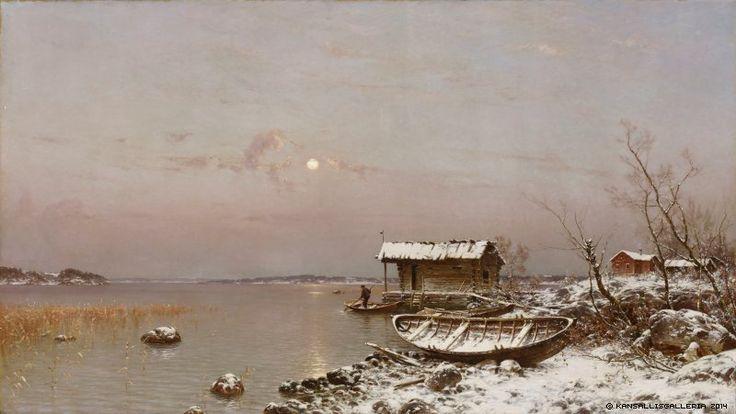 Hjalmar Munsterhjelm (1840-1905) Marraskuun ilta / November evening 1889 - Finland