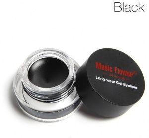 Купить гелевая подводка для глаз music flower black черная