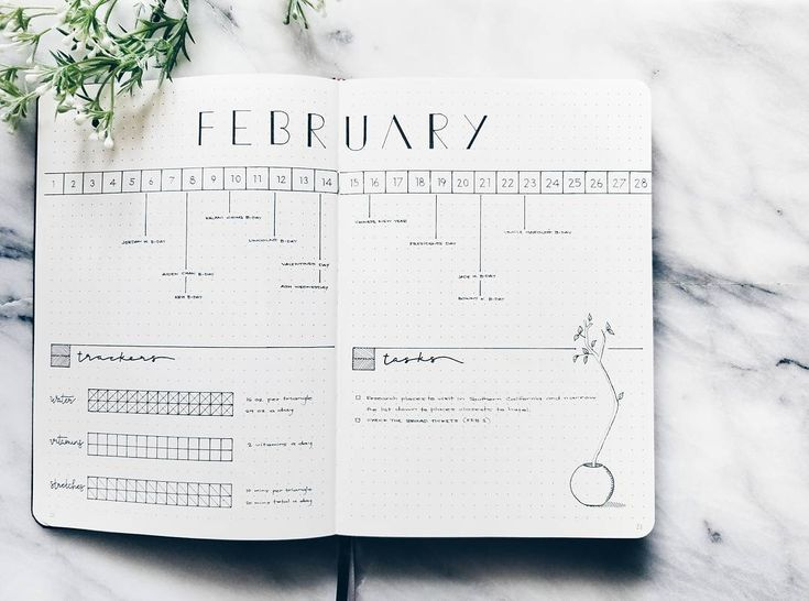 [F E B ] And here is my monthly set up. I don't have much to write (not as busy, yet!) so I'm keeping February on just these 2 pages | | | #bujo #bulletjournal #journaling #bulletjournalcommunity #bujocommunity #journal #planneraddict #plannerlife #minimal #minimalist #creative #organized #organization #art #happy #stationery #quotes #handlettering #modern #moderncalligraphy #calligraphy #handwriting #interior #love #minimalmonday #california #marble #doodles #withinthesurface #February