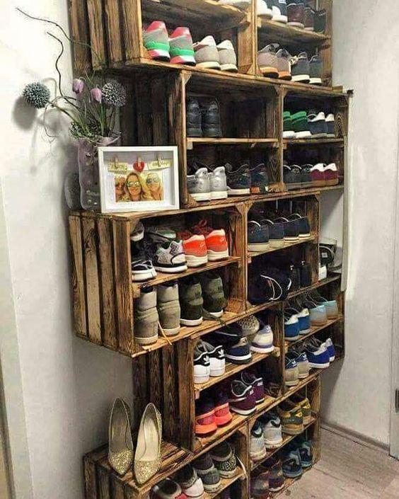 17 meilleures id es propos de rangement de chaussures de garage sur pintere - Meubles ikea detournes ...