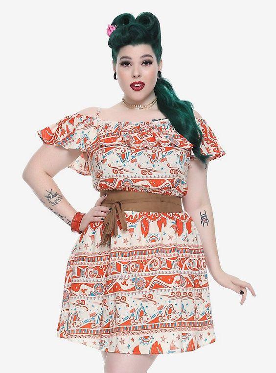 Disney Moana Off-The-Shoulder Dress Plus Size  79cc637ce