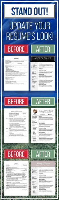 UPDATE YOUR RESUME! STAND OUT! Give your resume the modern look it needs.