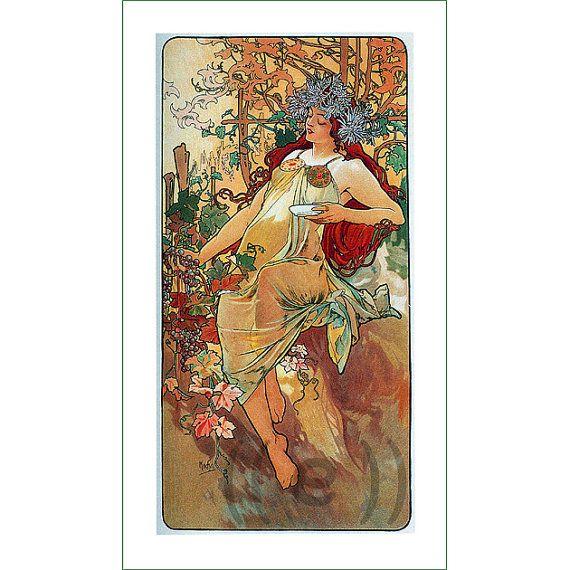 fabric panel - painting by Alphonse Mucha (29)