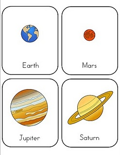 preschool lesson - planets  CC C2 - Some of these would be fun to play with the little ones while teaching the bigger kids about space