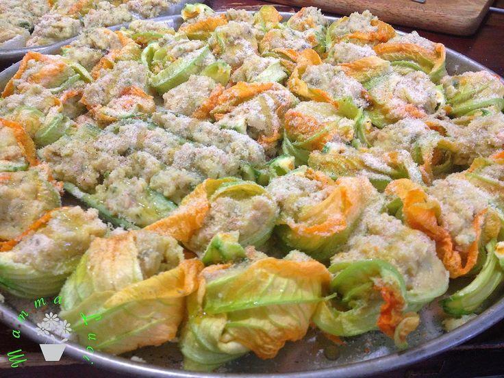 Fiori di zucchina alla ligure