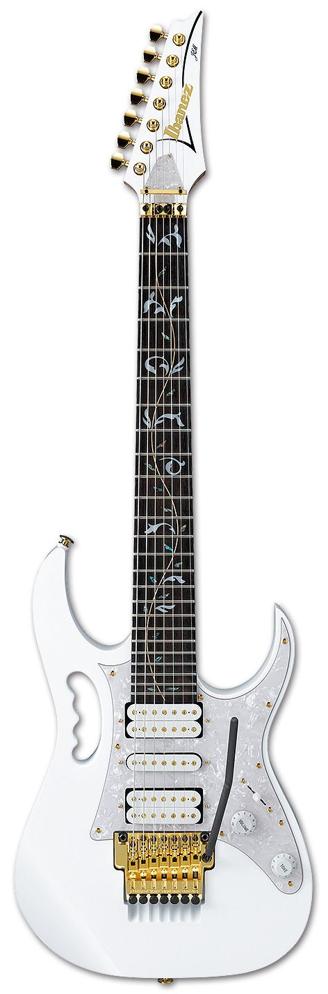 Electric Guitars - JEM7V7 | Ibanez guitars... LOVE the fret design! Count the strings....(wdk)