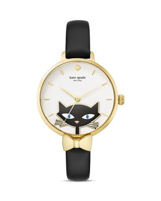 kate spade new york Metro Cat Watch, 34mm | Bloomingdale's