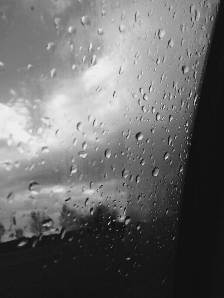 Rain black and Rain black and white. Glass nature Glass nature