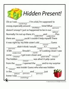 Christmas Mad Libs for Kids