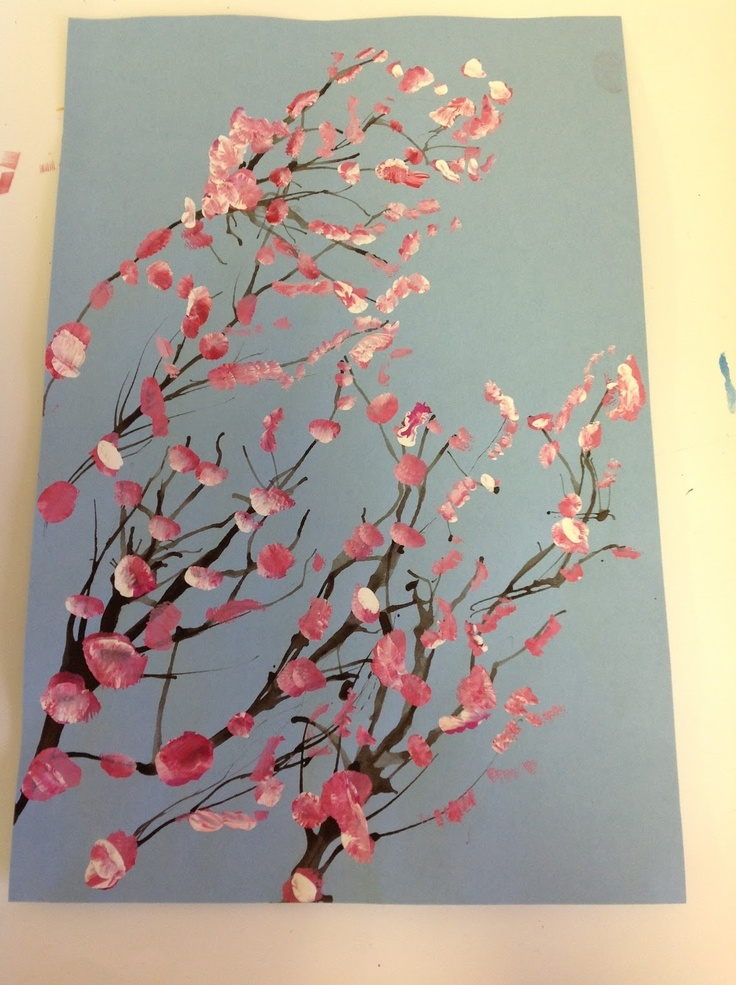 Color It Like you MEAN it! Cherry Blossom trees.