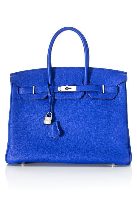 Heritage Auctions Vintage Hermès-  Electric Blue Birkin