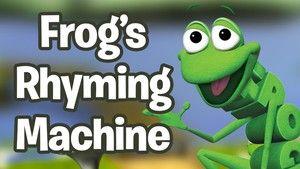Rhyming Games | PBS KIDS - Frog's Rhyming Machine - online rhyming game for kindergarten or 1st grade students.
