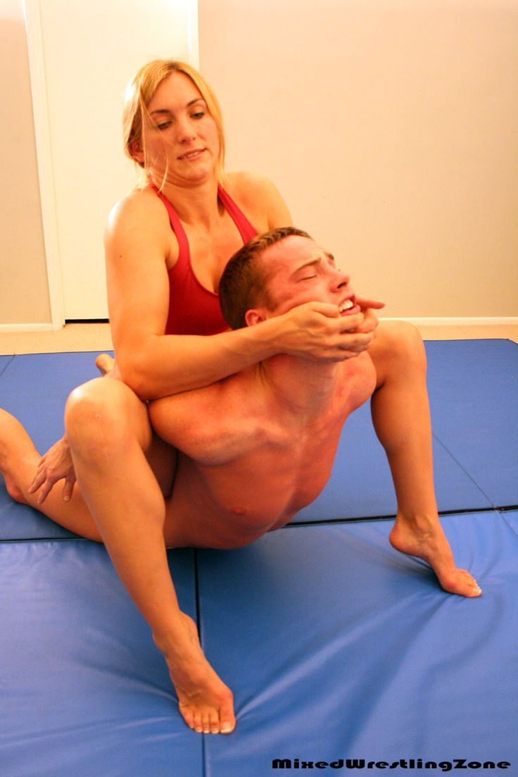 Mixed wrestling athletic girl vs guy nc18 demo 1