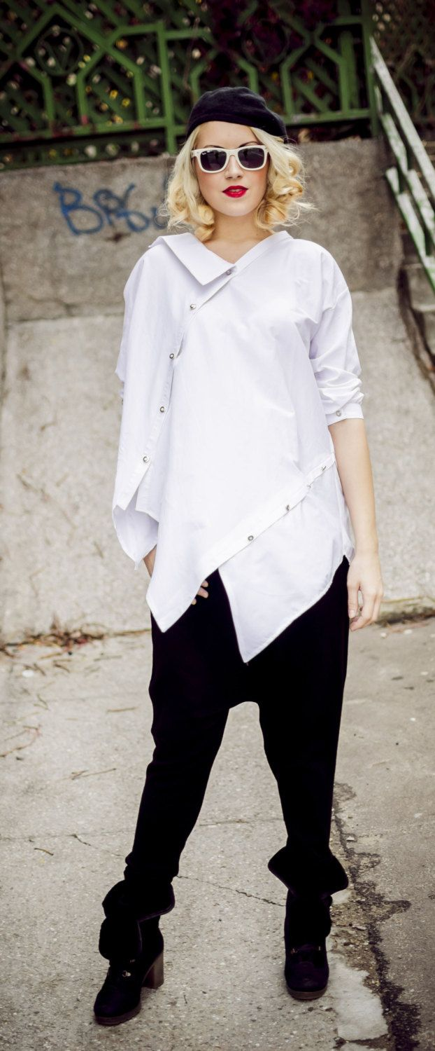 Just launched! Deconstructed White Top, Loose White Shirt, Funky White Blouse, Asymmetrical Top TT33 by TEYXO https://www.etsy.com/listing/212374186/deconstructed-white-top-loose-white?utm_campaign=crowdfire&utm_content=crowdfire&utm_medium=social&utm_source=pinterest