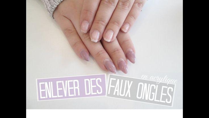 TUTO Comment retirer des faux ongles en acrylique   Melissa Easy Nails