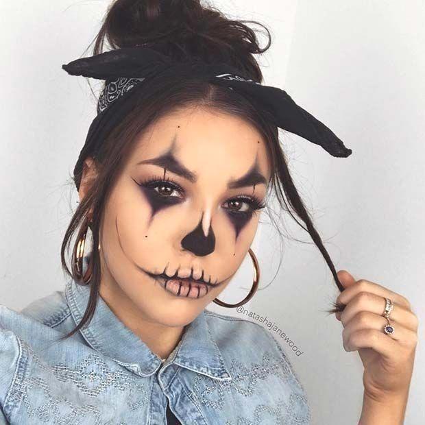 Halloweenmakeup Clown Makeup Easy Clown Makeup Look For