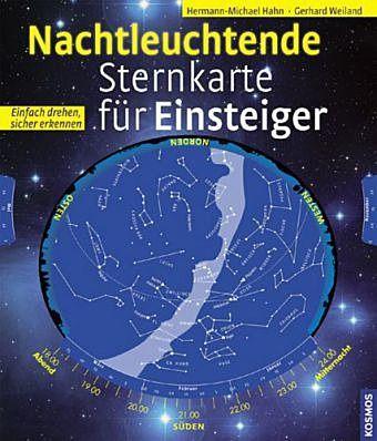 Nachtleuchtende Sternkarte für Einsteiger PORTOFREI