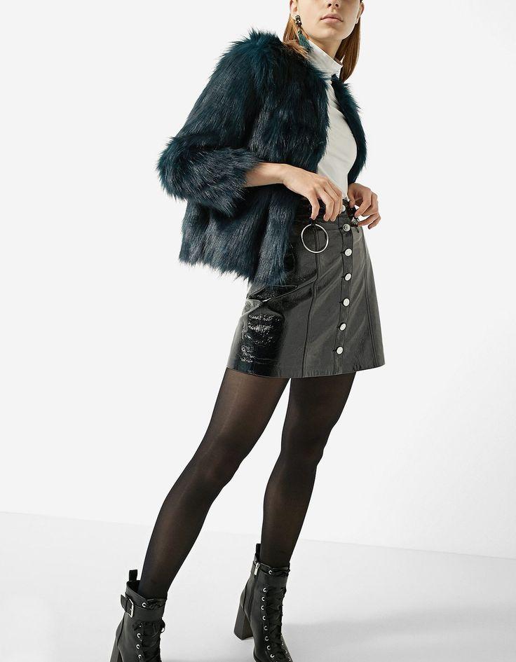 Faux fur jacket  | Stradivarius Ukraine REF. 5753/309-I2017 https://www.stradivarius.com/ua/faux-fur-jacket-c0p300409503.html?colorId=150