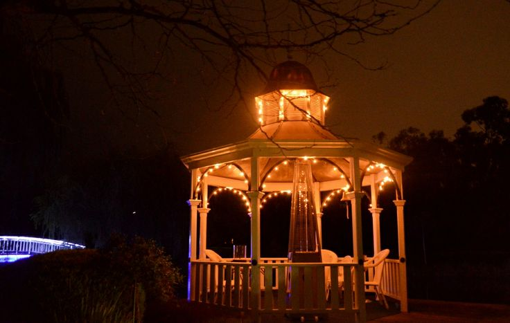 Experience a Romantic Date in a Gazebo sitting on the Lake's edge. Perfect by day and stunning at night!  www.lakesidecottage.com.au