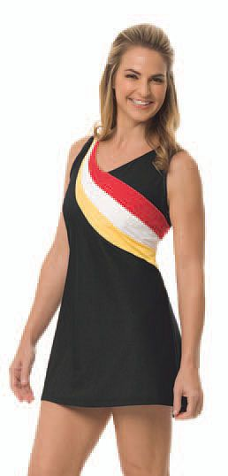 """You can be sexy and comfortable with your sporty outfit today! Grab this now CLEARANCE Tail Ladies Tennis 31"""" Colorblocked Racer Back Dresses #Sports #Tennis #Outfit #Ladies #Fashion #Apparel #Dress"""
