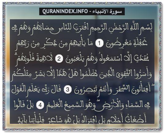 Browse, Read, Listen, Download and Share #Surah Al-Anbiyaa [21] @ https://quranindex.info/surah/al-anbiyaa #Quran #Islam