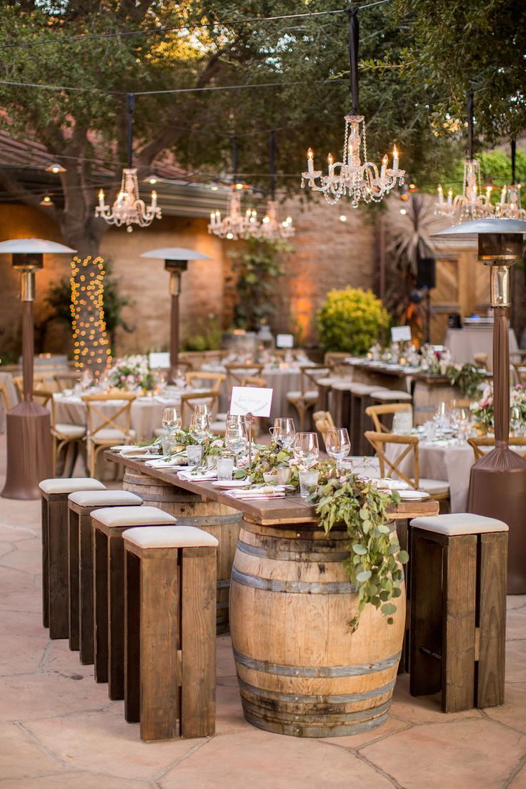 Rustic elegance reception in California's wine country