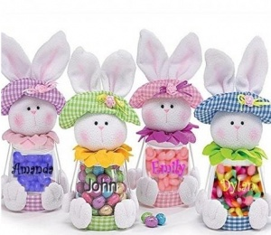 spring craft ideas to sell personalized purple bunny jar 18 50 pascua 7185