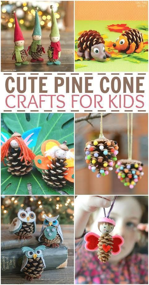Cute pinecone craft ideas for kids. Fun craft projects for fall and winter!