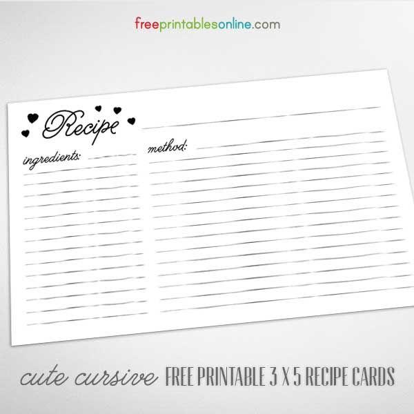 3x5 card template