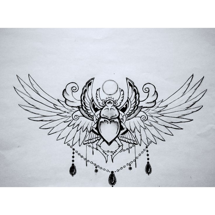 Scarab sketch for one of my next tattoos