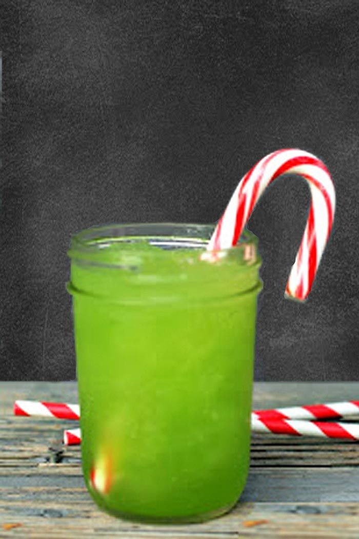 "One, Two, Punch! The Best Big-Batch Cocktails for a Party | HOLIDAY PUNCH | We'd like to rechristen this electric green drink from Here Comes the Sun ""Grinch Punch"" since it's such a bright shade (thank you, lemon-lime Kool-Aid!). Kids will love it as is, but if the adults want something stronger, a splash of rum will pair nicely with the ginger ale and pineapple flavors."