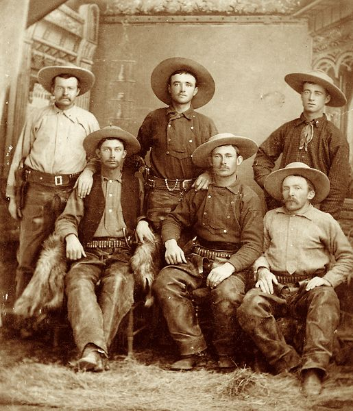 Cowboy's of The Slaughter Ranch 1885  John Horton Slaughternear Douglas, Arizona.Robert G. McCubbin