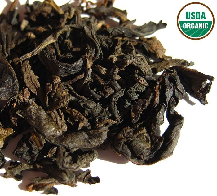Russian Caravan Tea - four high-quality organic large leaf teas—lapsang souchong, dark oolong, assam, & puerh—perfectly balanced to deliver a kiss of smoke and sweetness to your palate