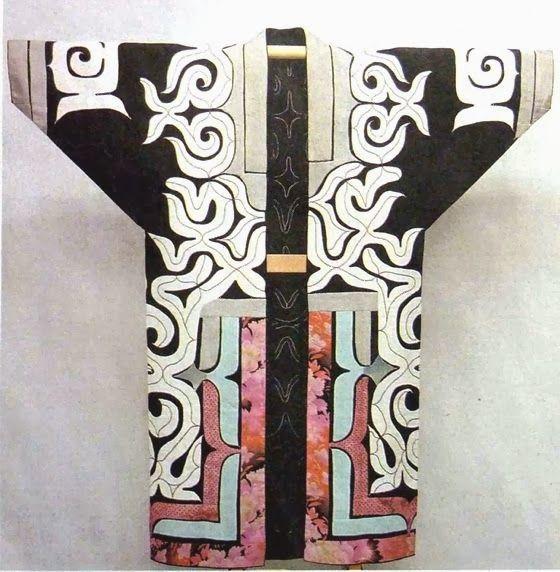 patternprints journal: WONDERFUL EMBROIDERY PATTERNS INTO AINU KIMONO