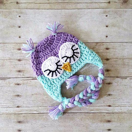 Crochet Baby Owl Hat Beanie Animal Newborn Infant Toddler Child Adult Photography Photo Prop Handmade Baby Shower Gift Sleepy Owl