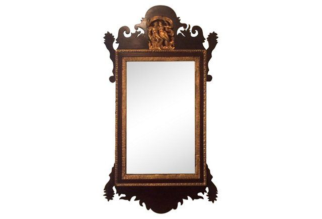 Antique Carved Chippendal Mirror