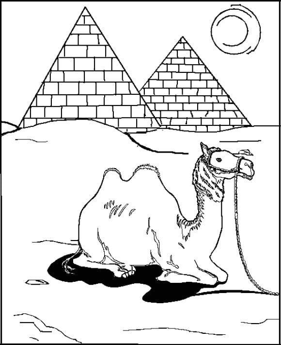 Drawing Three Great Pyramid Coloring Page Coloring Sky Coloring Pages Pyramids Drawings