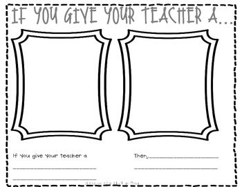 For Sub Tub! - If You Give Your Teacher a