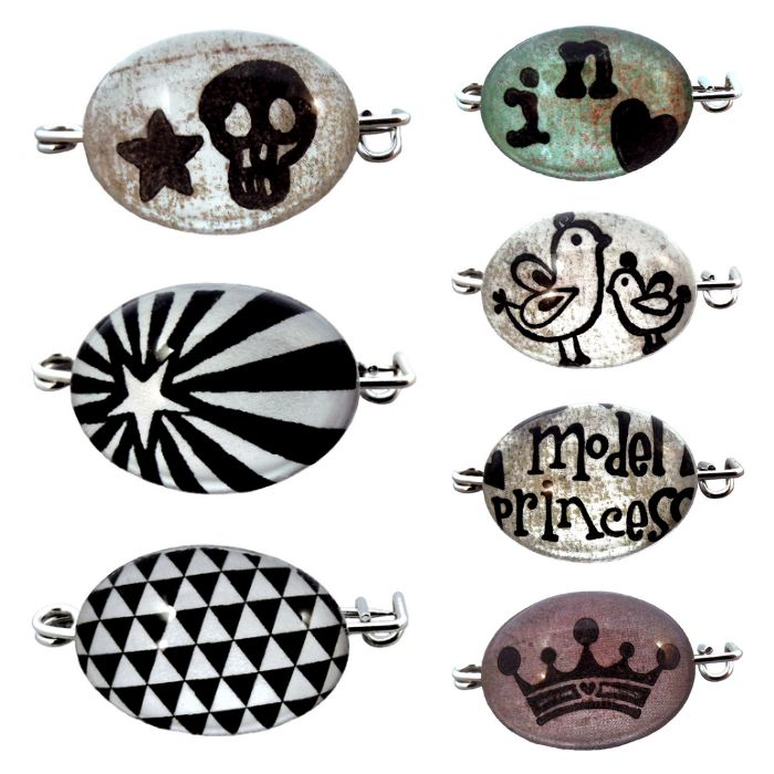 BROCHES CABOCHONS LLule ★ http://www.llulecreations.com/