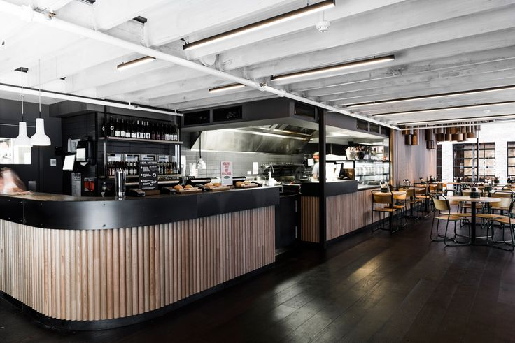 Grill'd Flinders St Design: Techne Lighting: ambience Photos: Tom Blachford #interiordesign #architecture #customlighting #luminaires #hospitalityfitout